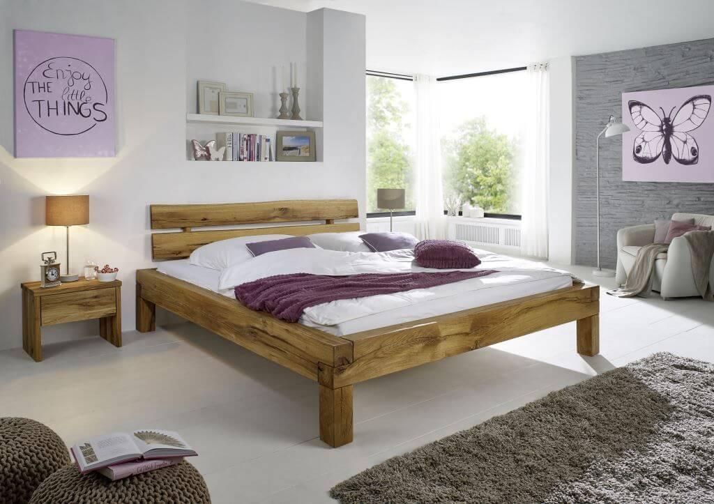 balkenbett klara wildeiche 180 x 200 cm m belhaus g rtner lorsch. Black Bedroom Furniture Sets. Home Design Ideas